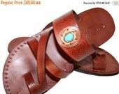 20% OFF Brown Decor Bath Leather Sandals for Men & Women