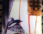 Magpie, Cotton Velvet Pillow