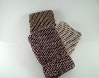 Dishcloths/Washcloths Knit in Cotton