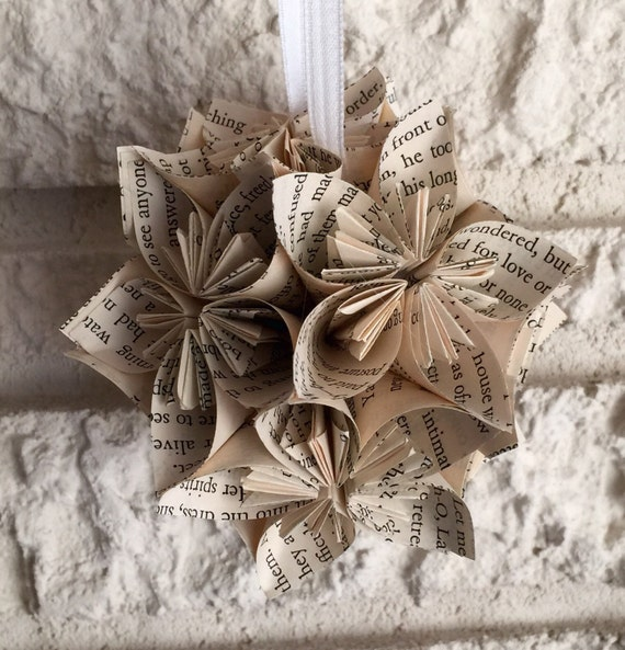 Gone With The Wind Book Small Paper Flower Pomander Ornament