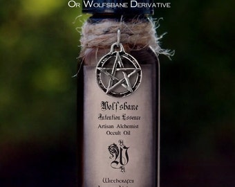 "WOLFSBANE Fragrance Non-Toxic ""Intention Essence""™ ""Artisan Alchemist""™ Dark Arts Herbal Oil - Contains No Wolfsbane or Wolfsbane Derivative"