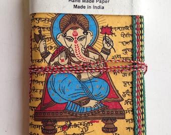 Ganpati Journal, College student gift, Brother Gift, Yellow Ganesha, Boyfriend gift, Husband Gift,Indian Journal, Hindu Journal, Yoga Book