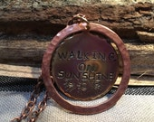 Necklaces Handmade Vintage brass and copper stamped necklace
