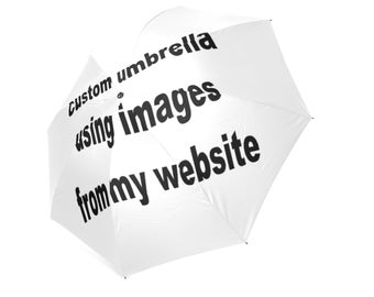CUSTOM UMBRELLA... any image/ illustration i have can be put onto an umbrella... original illustration