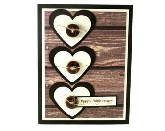 Anniversary card for husband, boyfriend, happy anniversary, masculine anniversary, hearts, congratulations, I love you