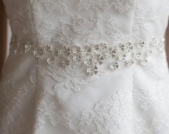 Wedding Gown Sash, Bridal Ribbon Sash