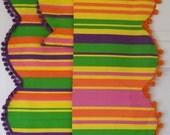 Vintage Bright Retro Awning Stripe Valance Panels