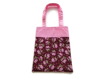 Fabric Flower Gift/Goodie Bags - Pink Roses