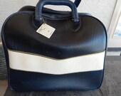 Vintage Brunswick Bowling Bag Dark Purple and White