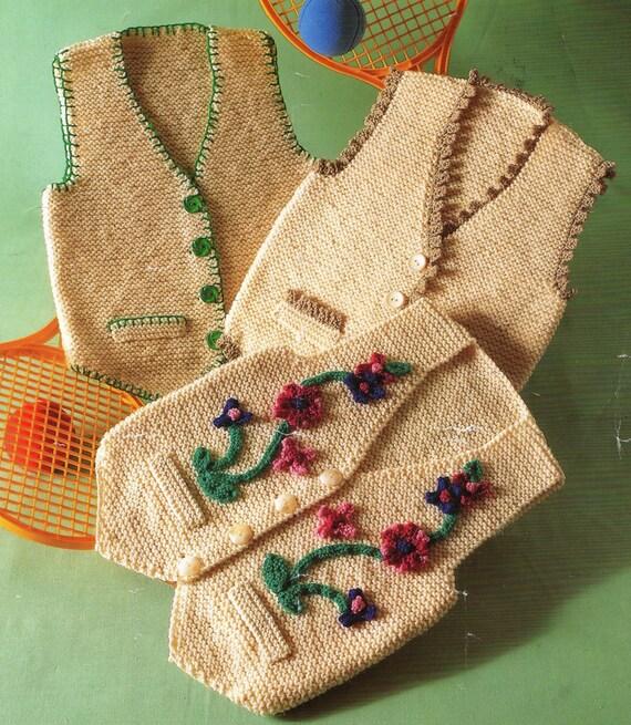 PDF Knitting Pattern / Waistcoat Vest / by LoveFromNewZealand