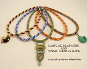 Spiral Chenille Rope Beadweaving Tutorial in Two Palettes with Five Bonus Spiral Charts