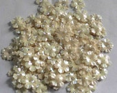 100 Glossy / Rainbow Effect/ White Color /Flower sequins/ Code KBSF668