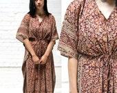 dreamtime -- vintage indian muumuu caftan dress S/M/L OSFA