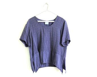 Raw purple Silk Top