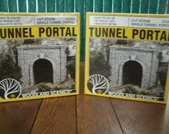 Model Railroading Tunnel Portals Vintage NOS