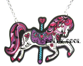 Carousel Horse Necklace by Dolly Cool Super cute and Kawaii Fairground Kitsch
