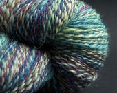 Odyssey, Handspun yarn, Handpainted Silk, Merino and Alpaca Yarn, 280 yards, fingering.