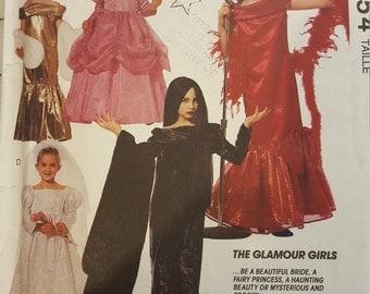 Girls Princess Bride Elvira Morticia Torch Singer Costume 5 6 McCalls 6154