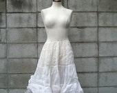 White Crinoline Vintage Crinoline Petticoat Women's