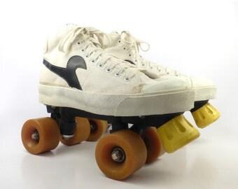 Sneaker Roller Skates Vintage 1970s Men's size 7 Arena