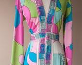 Psychedelic 70's Maxi Dress Medium