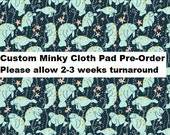 PRE-ORDER Custom Cloth Pad by MotherMoonPads ~ Made w/ Oh the Hue Manatee Minky, WINDPRO ~ Pantyliner, Day Pad, Heavy Flow