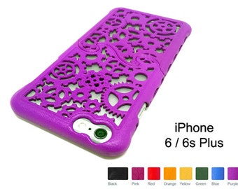 Made-To-Order iPhone 6s / 6 Plus (4-8 weeks) Designer Gear & Cogs Steampunk Puzzle Case - 8 color options