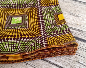 African print napkins. Green Yellow cotton. ready to ship.napkin wedding accessories, chillipeppa