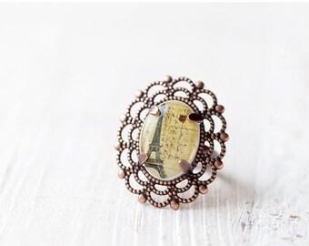 Eiffel Tower - Paris ring - Romantic jewelry (R018)