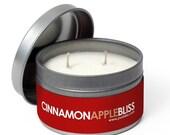 SALE 4oz Cinnamon Apple Soy Candle (tin)