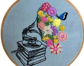 Florophone - Hand Embroidery Hoop Art