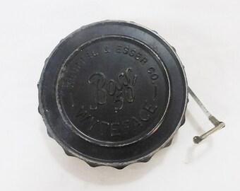 Vintage keuffel esser co boss 50 tape measure wyteface Industrial tool USA mid century
