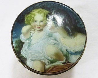 Thornes of leeds england confectionery tin nature by sir thomas lawrence 2 girls