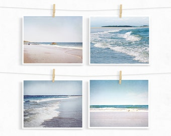 Beach Photography, Beach Set, Save 20%, Beach Pictures, Pastel Beach, Ocean Photographs, Beach House Decor, Beach Photo Set, Ocean Art