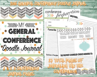 2016 General Conference Doodle Journal and/or Study Kit