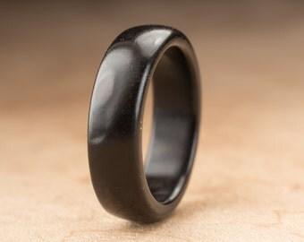 Size 7.5 - Ebony Wood Ring No. 204