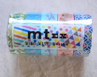 Set 5 mt Limited Edition washi masking tapes - Mino Washi Museum