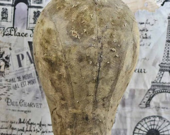 ANTIQUE and DILAPIDATED Mannequin head...  c. 1930  for display...  decor...  photo prop...  t 10 L