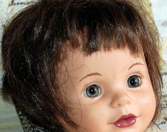 ceramic doll's head, collectible, Home Decor, Coolvintage, nostalgic,doll's parts, UA