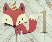 Fox Cake Topper- smash cake, first birthday