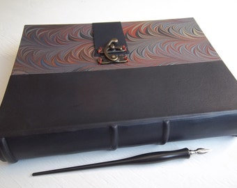 Leather-spine Sketchbook, Multimedia Fine Art Papers, Watercolor Papers, Archival European Case Binding