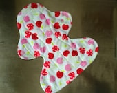 "11"" Heavy Flow Postpartum Reusable Cloth Pad ~ Cherry Soda Minky ~ by Talulah Bean"