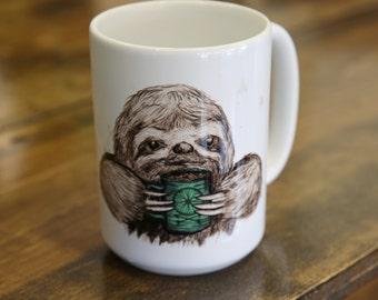 Sloth Coffee and Tea Mug