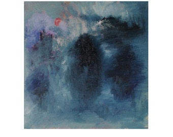 Abstract Painting, Original Abstract Painting, Oil on gallery wrapped canvas, 12 x 12 x 0.5 inches, Hope Answered