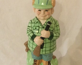 Jesse the Hunter Vintage Ceramic Hunting Man Figure