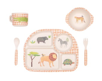 Bamboo Dinnerware - On Safari - (FDA & LFGB food safe approved)
