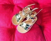 Hermes for kids - Natural Greek Leather sandals with wings/  Strap Sandals/ Sandals for kids/ Sandals with wings/ Baby sandals