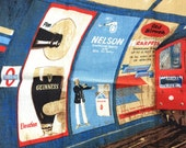 Vintage Tea Towel London Underground Advertising Posters Guinness Beer Nelson Cigarettes