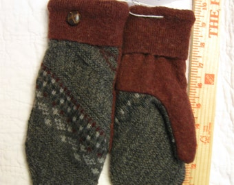 Felted Woolen Mittens