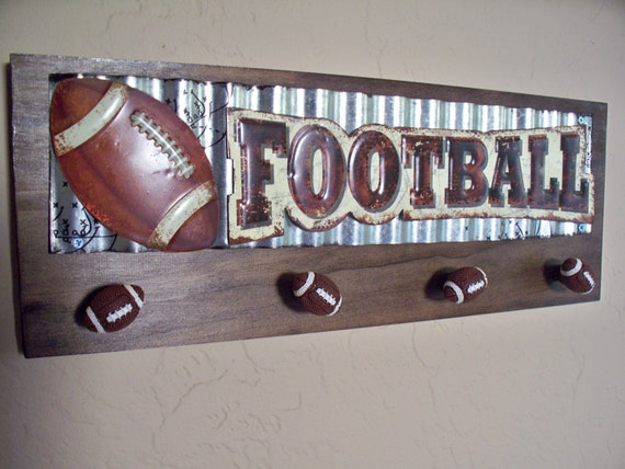 football wall decor sports decor kids room decor teens room. Black Bedroom Furniture Sets. Home Design Ideas